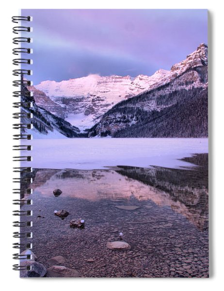 Reflections In Frozen Lake Louise Spiral Notebook