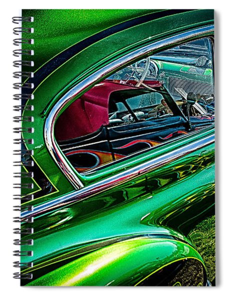 Reflections In Green Spiral Notebook