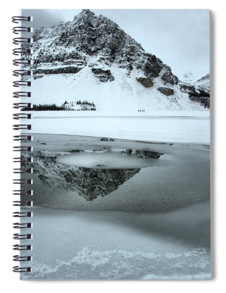Reflections In The Bow Lake Icy Waters Spiral Notebook