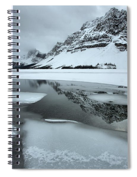 Reflections In The Icebergs Spiral Notebook