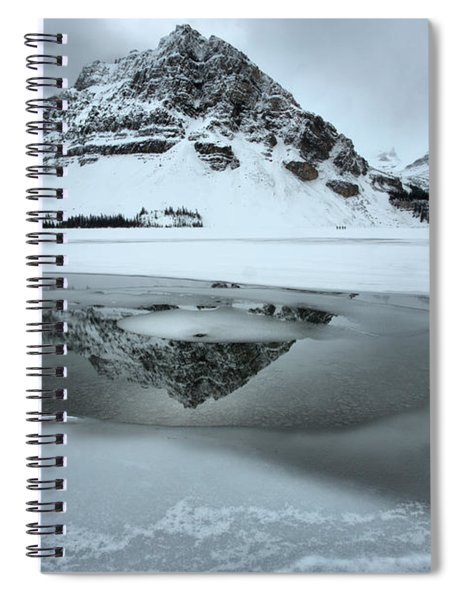 Reflections In The Icy Curves Spiral Notebook