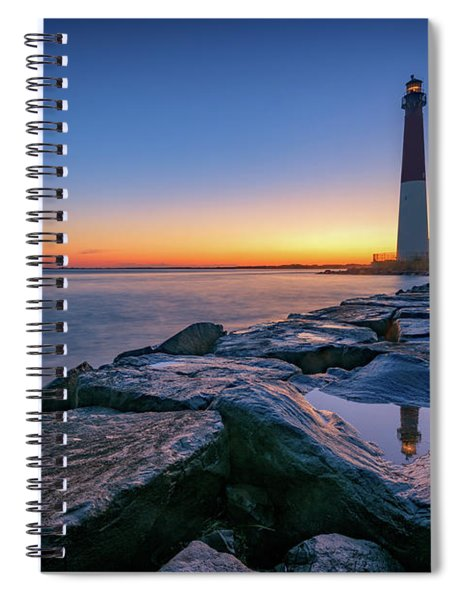 Reflections Of Barnegat Light Spiral Notebook