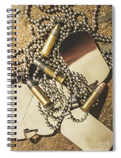 Reflections Of Battle Spiral Notebook