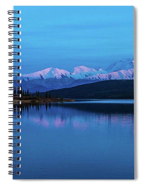 Sunset Reflections Of Denali In Wonder Lake Spiral Notebook