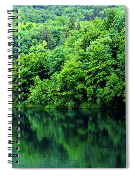 Reflections Of Plitvice, Plitvice Lakes National Park, Croatia Spiral Notebook