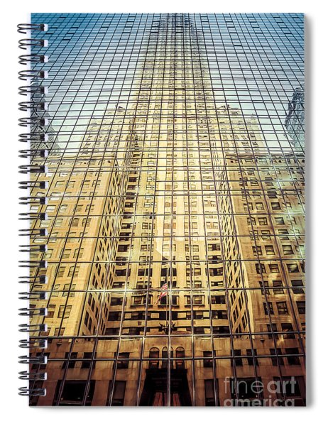 Reflective Empire Spiral Notebook