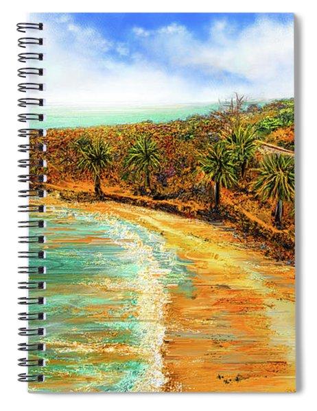 Refuge Of Tranquility - Refugio State Beach Park California Art Spiral Notebook