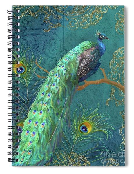 Regal Peacock 3 Midnight Spiral Notebook