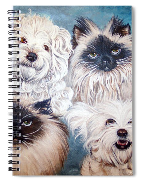 Reigning Cats N Dogs Spiral Notebook