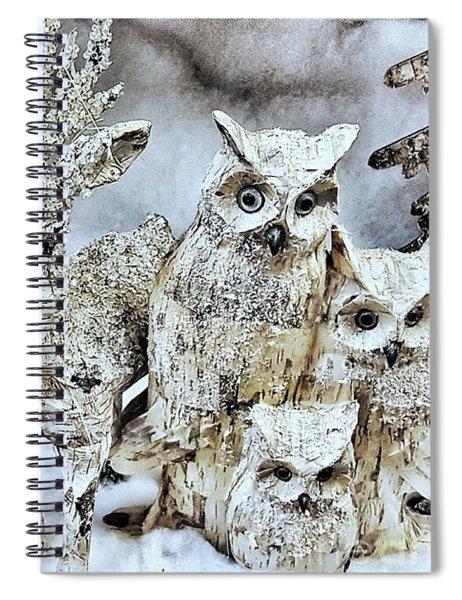 Reindeer And Owls Holiday Celebration 2 Spiral Notebook