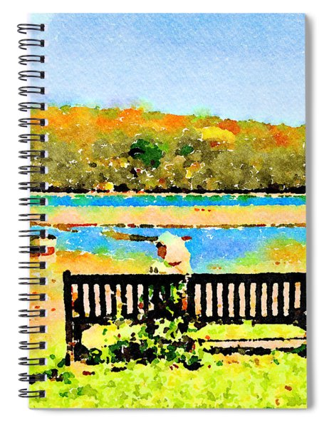 Relax Down By The River Spiral Notebook