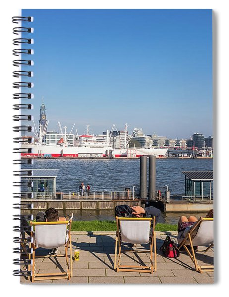 Relax On The Elbe Spiral Notebook