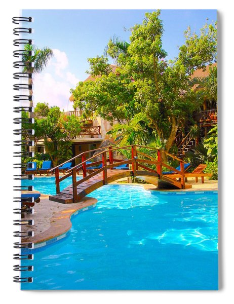 Relaxing Outoor Spa Spiral Notebook