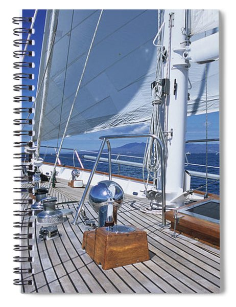 Relaxing On Deck Spiral Notebook