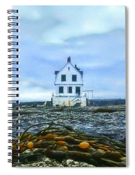 Remnants On The Rocks Spiral Notebook