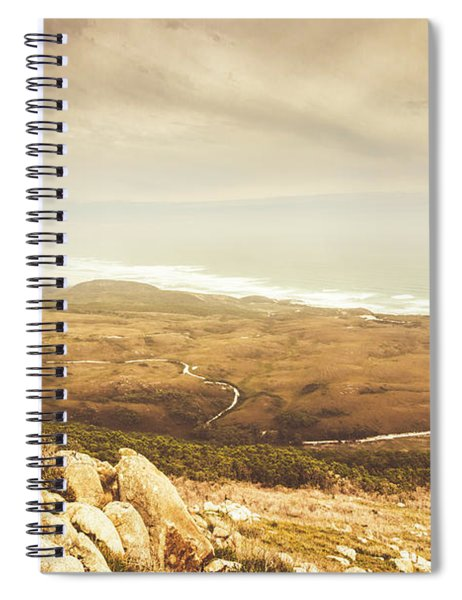 Remote Roads And Foggy Coastlines Spiral Notebook