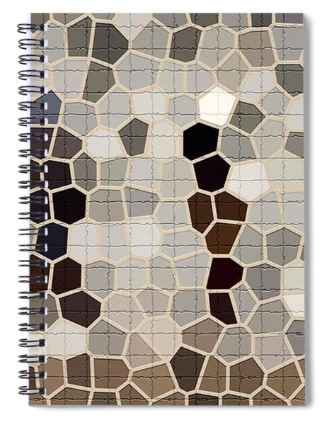 Repair The Cracks In Chamois, Beige And Cadet Gray Colors For Tile Series One Spiral Notebook