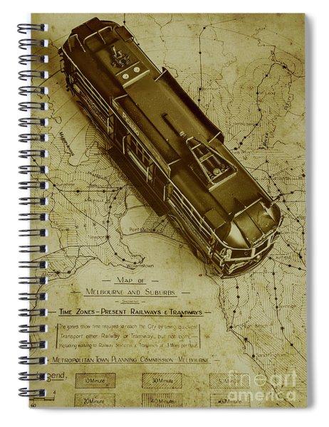 Replicating Past Tram Transit Spiral Notebook