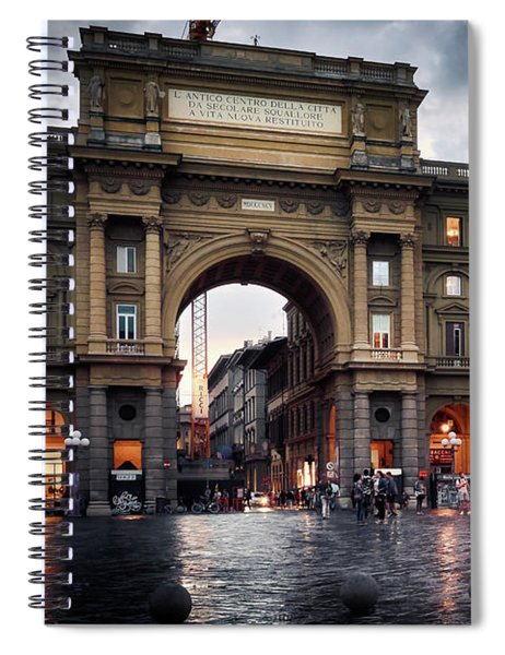 Republic Square In The City Of Florence Spiral Notebook