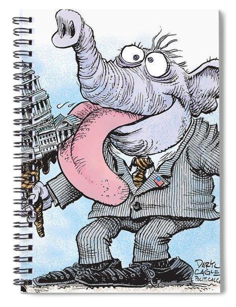 Republicans Lick Congress Spiral Notebook