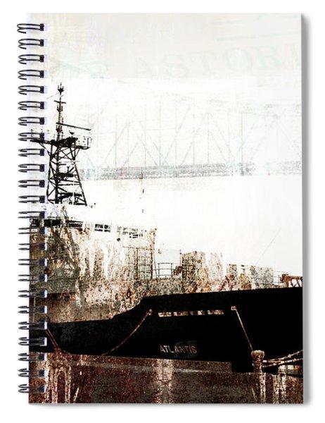 Research Vessel Atlantis In Astoria Oregon Spiral Notebook