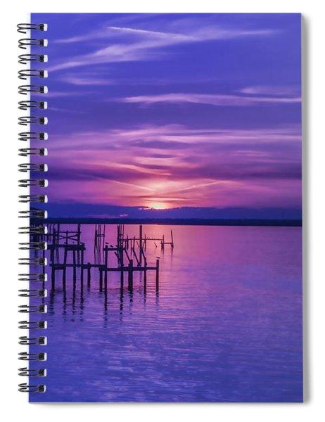 Rest Well World Purple Sunset Spiral Notebook