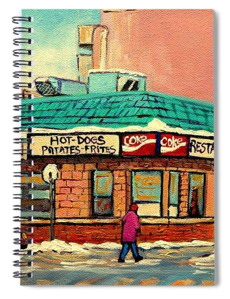 Restaurant Greenspot Deli Hotdogs Spiral Notebook