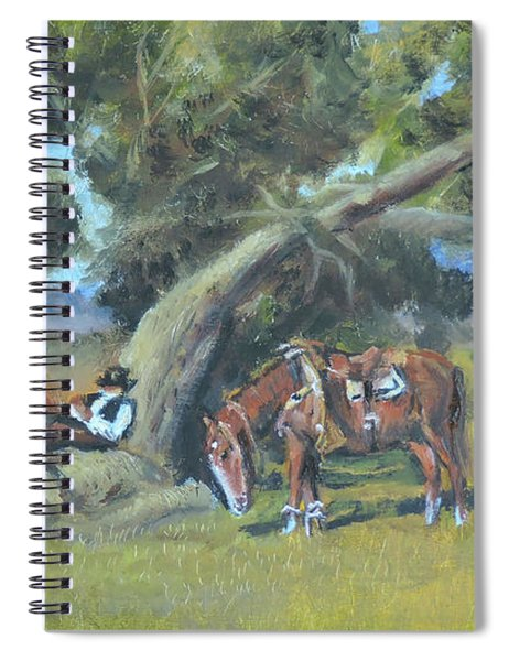 Resting Cowboy Painting A Study Spiral Notebook