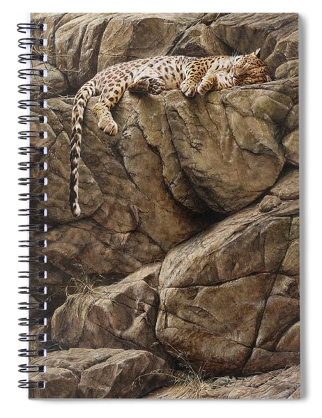 Spiral Notebook featuring the painting Resting In Comfort by Alan M Hunt