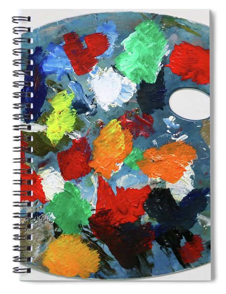 The Artists Palette Spiral Notebook