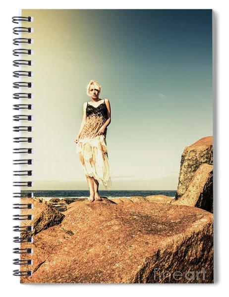 Retro Beach Fashions Spiral Notebook