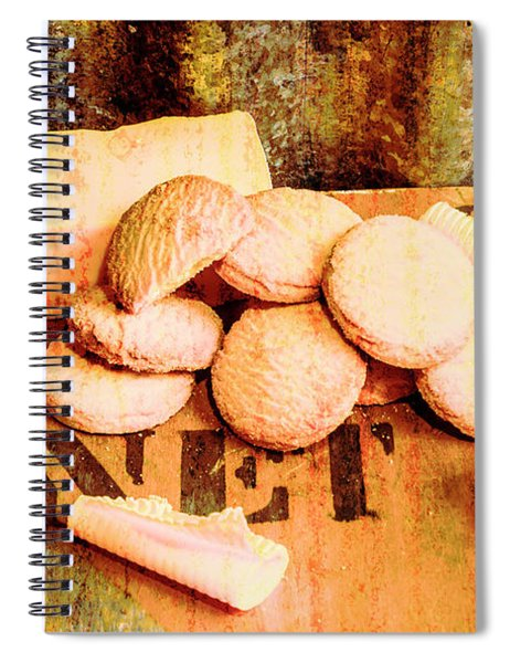 Retro Butter Shortbread Wall Artwork Spiral Notebook