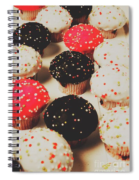 Retro Cake Stand Spiral Notebook