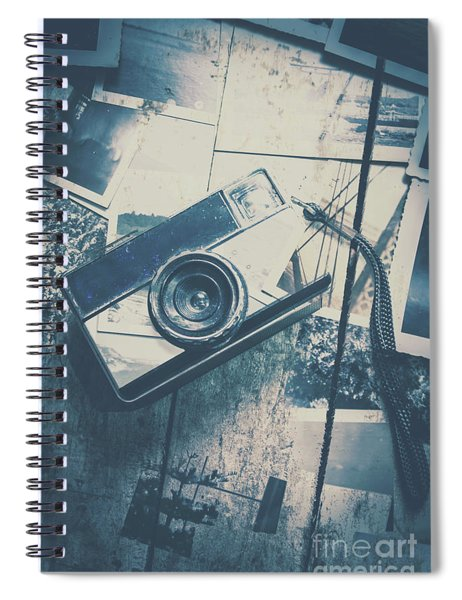 Retro Camera And Instant Photos Spiral Notebook