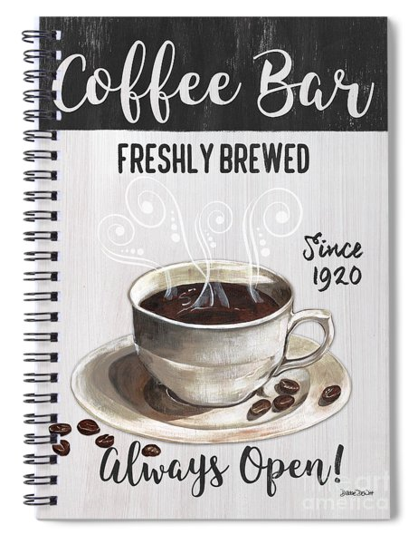 Retro Coffee Shop 2 Spiral Notebook