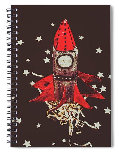 Retro Cosmic Adventure Spiral Notebook