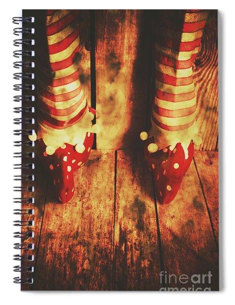 Retro Elf Toes Spiral Notebook