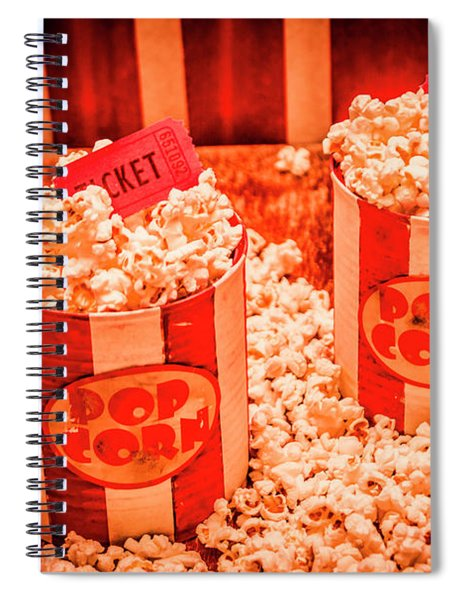 Retro Film And Entertainment Scene Spiral Notebook