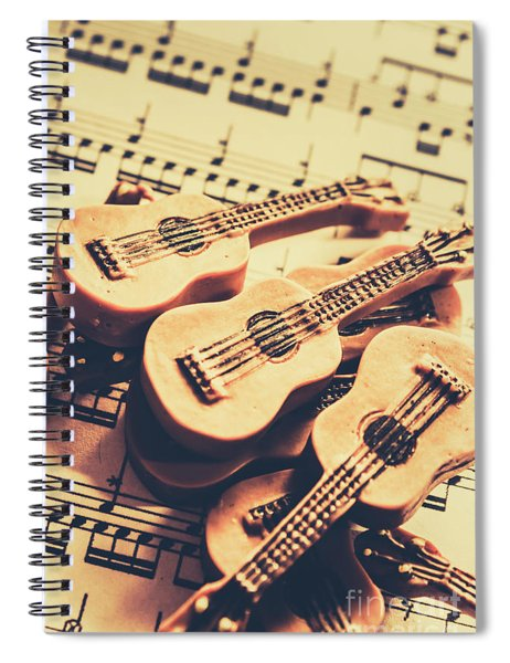 Retro Folk And Blues Spiral Notebook