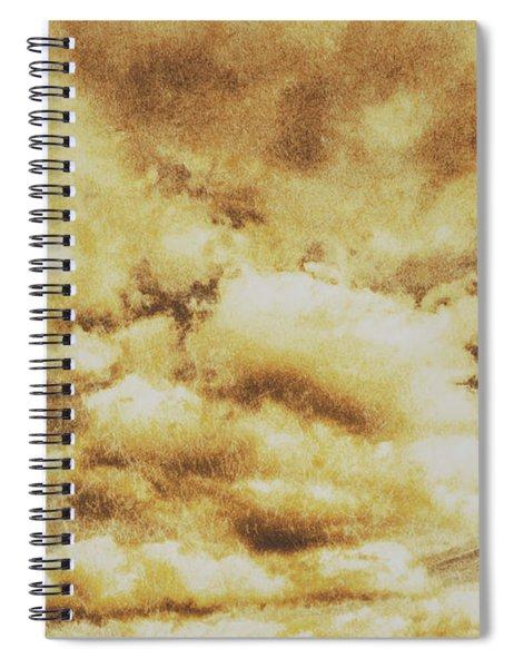 Retro Grunge Cloudy Sky Background Spiral Notebook