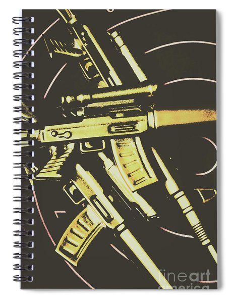 Retro Guns And Targets Spiral Notebook