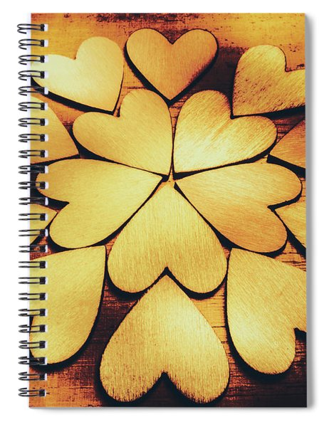 Retro Heart Connection Spiral Notebook