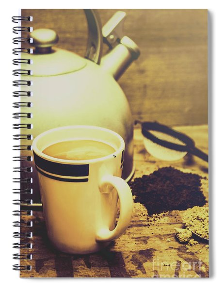 Retro Kettle With The Mug Of Tea Spiral Notebook