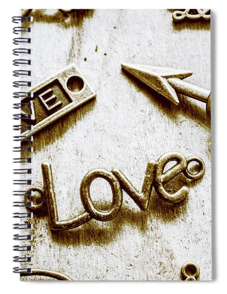 Retro Love Heart Jewels  Spiral Notebook