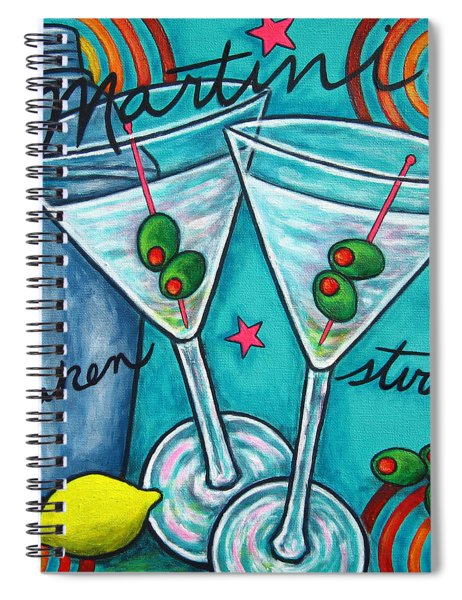 Retro Martini Spiral Notebook
