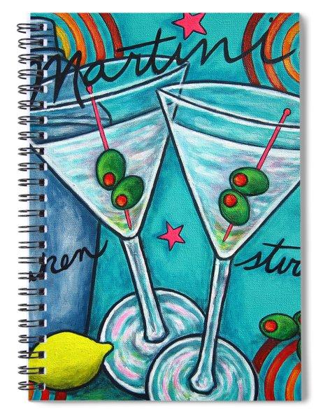 Retro Martini Spiral Notebook
