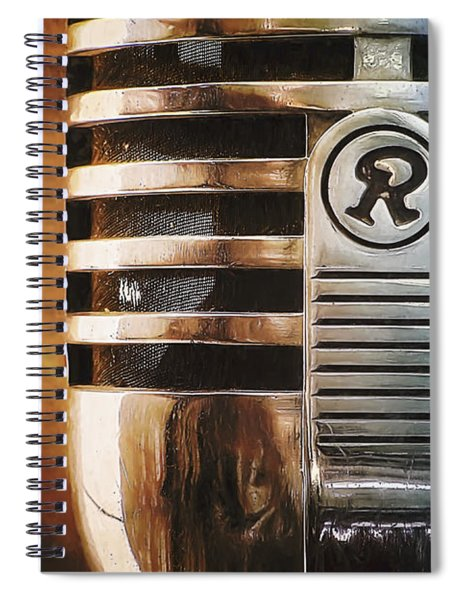 Retro Microphone Spiral Notebook
