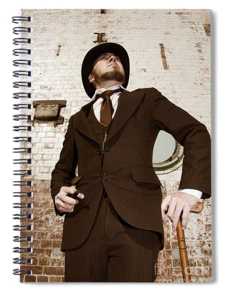 Retro Nobel Man Spiral Notebook