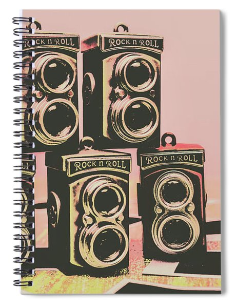 Retro Photo Camera Pop Art  Spiral Notebook