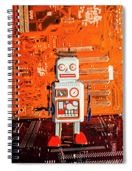 Retro Robotic Nostalgia Spiral Notebook